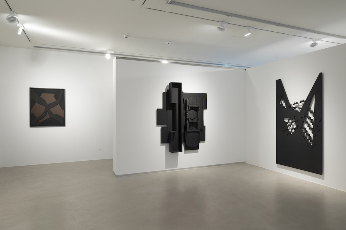 """Louise Nevelson. Assemblages e Collages"", a cura di Bruno Corà, 2017, Cortesi Gallery, Lugano, foto di Ginevra Agliardi."