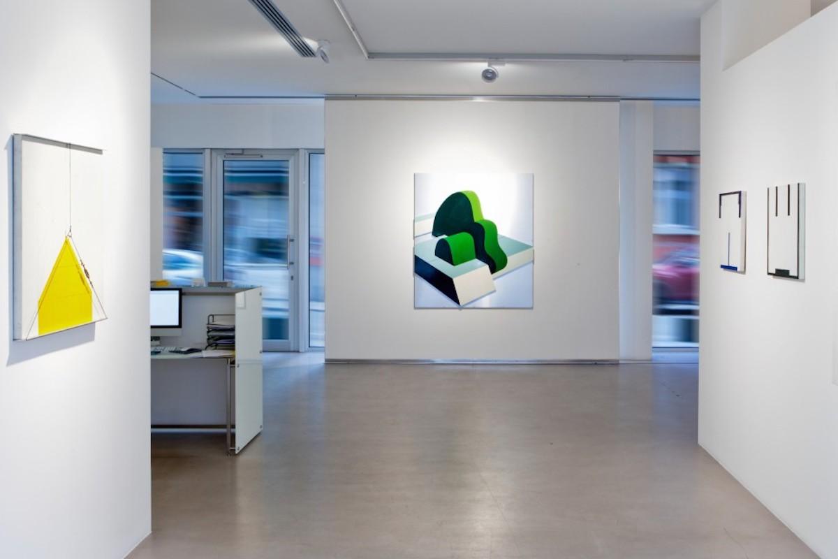 """""""Gianfranco Pardi. Opere 1968-82. Architetture. Poeticamente"""" A cura di Bruno Corà, 2016, Cortesi Gallery, Lugano, foto di Ginevra Agliardi."""