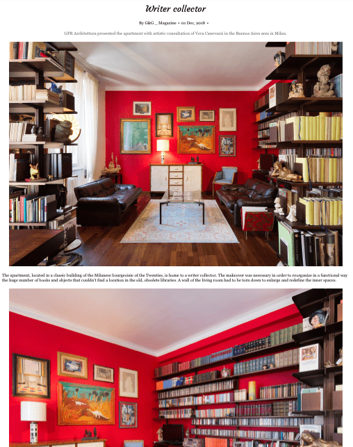 Appartamento Buenos Aires pubblicato su G&G Magazine. Progetto architettonico GFR Architettura, consulenza artistica Vera Canevazzi, foto Carola Merello.