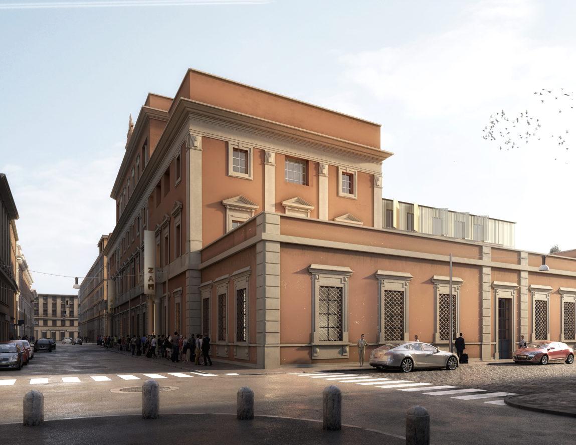 Render del progetto di riqualificazione della prima Zecca d'Italia